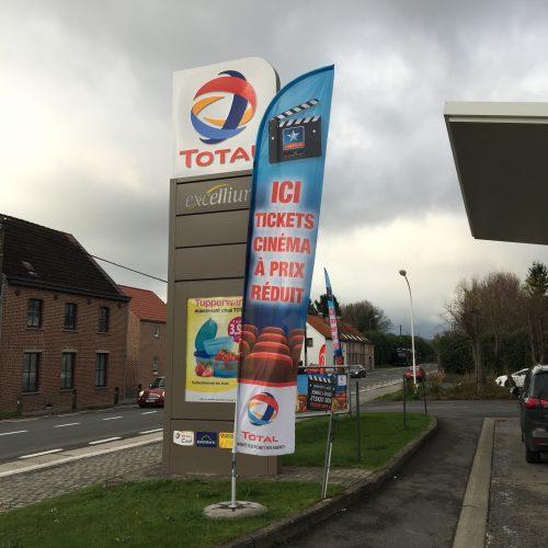Total Belgium - Habillage de station - Total fait son cinéma
