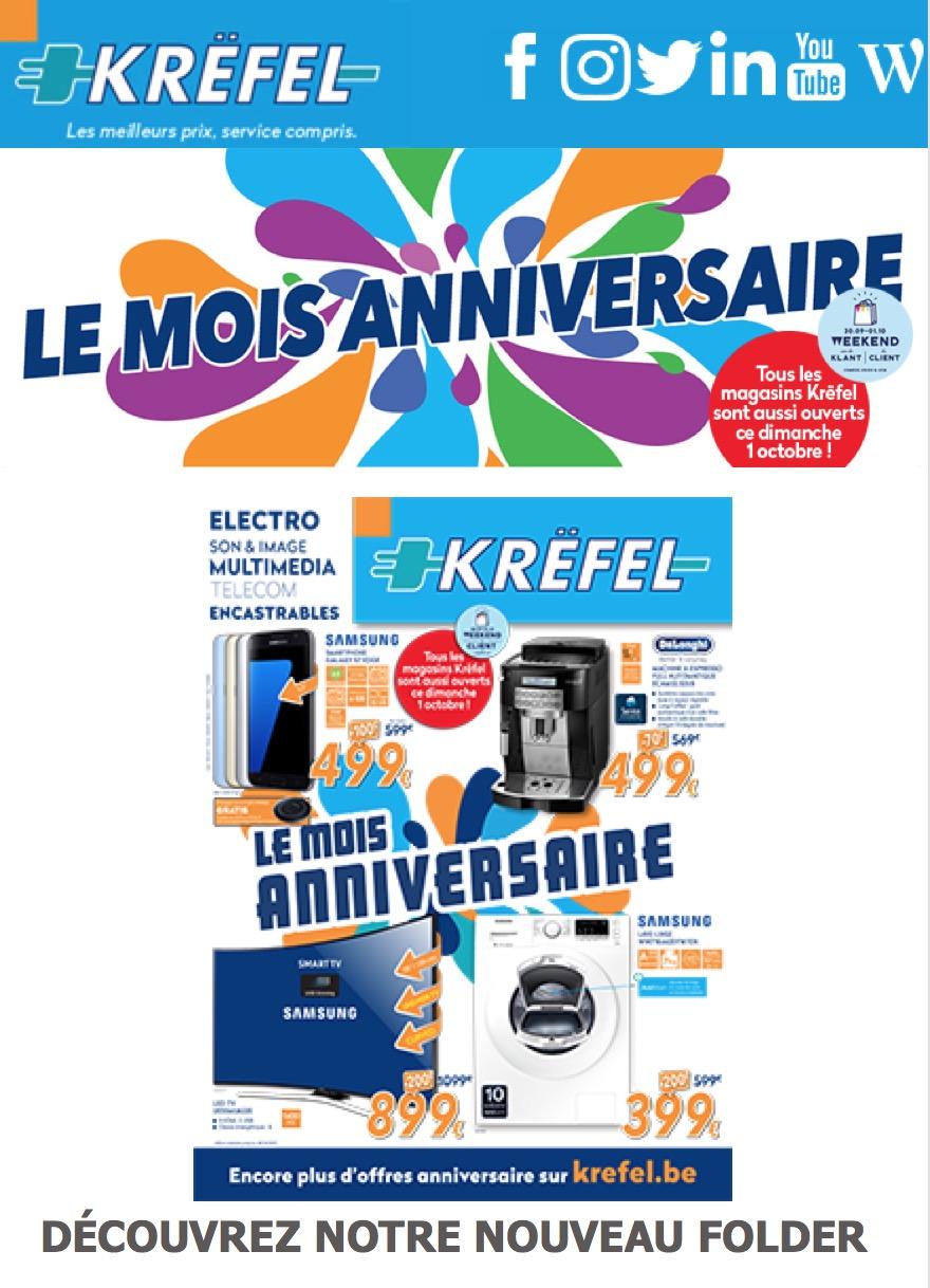 Krëfel - Cover de folder LE MOIS ANNIVERSAIRE