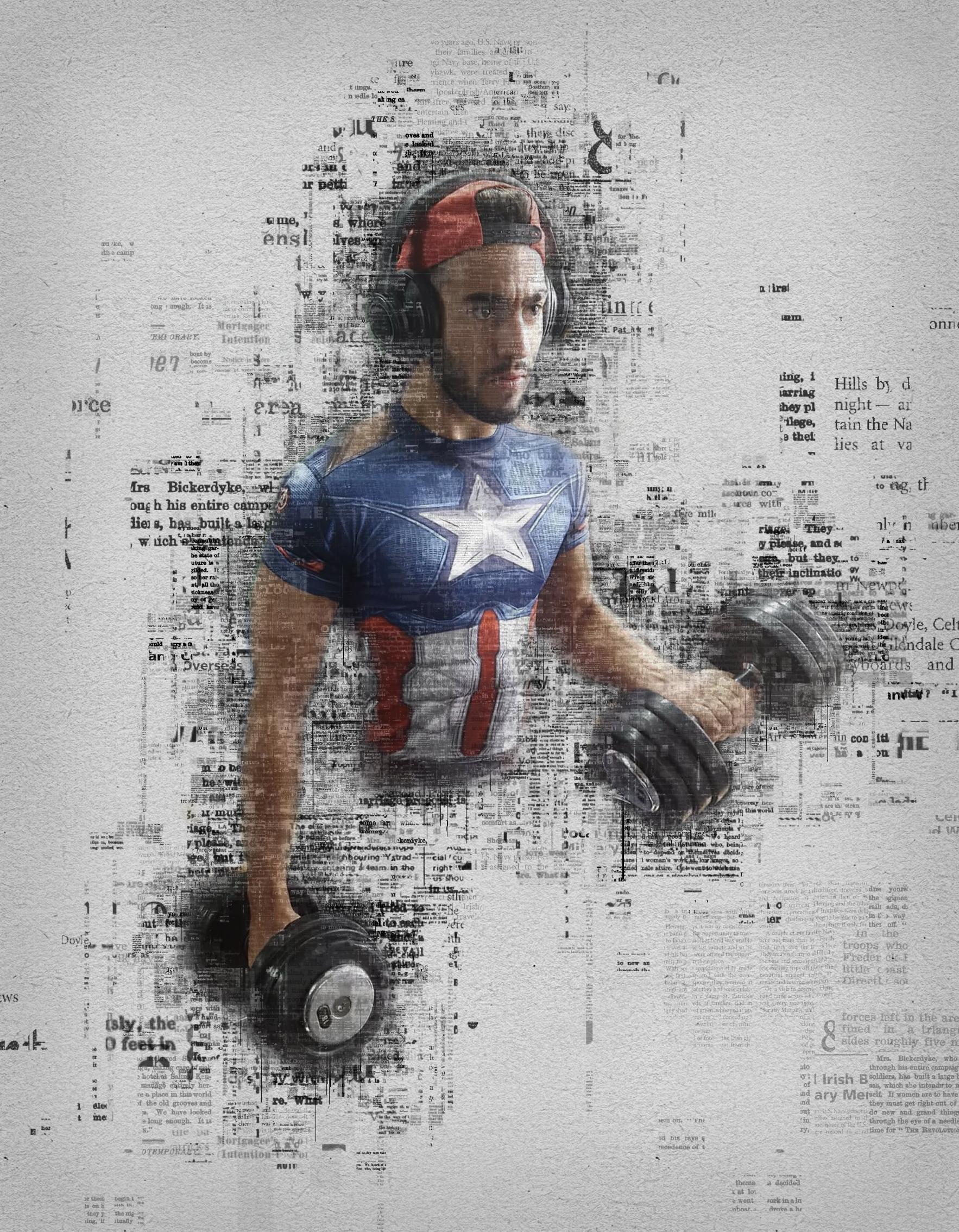 Photoshop - Captain America - Le Gymnasium - Braine-L'Alleud