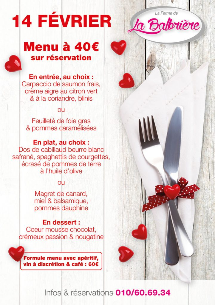 La Balbrière - Affiche St Valentin 2018
