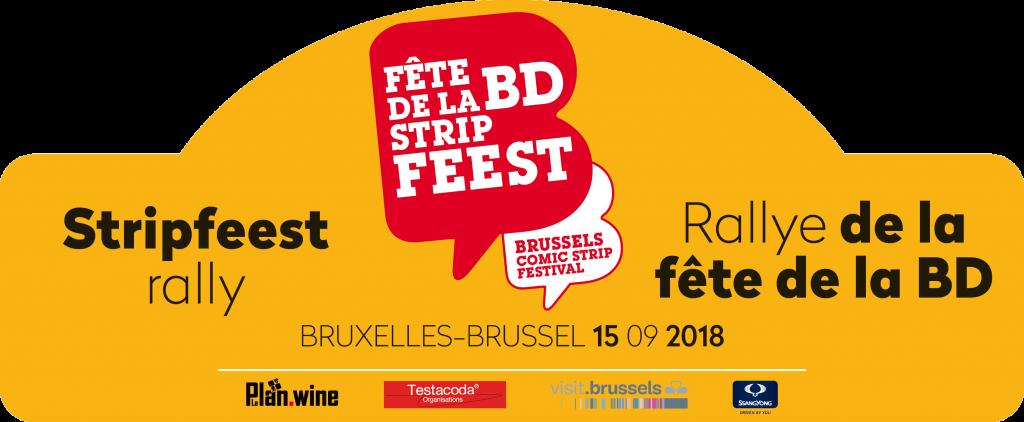 Plaque pour le Rally de la fête de la BD 2018